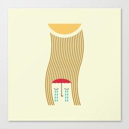 sun-rain Canvas Print