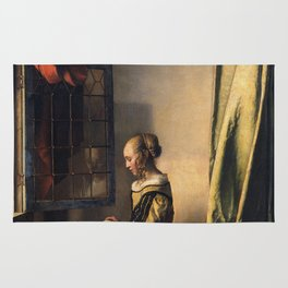 Johannes Vermeer - Girl reading a letter by an open window Rug