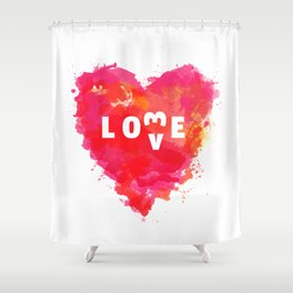 Love is like... Shower Curtain