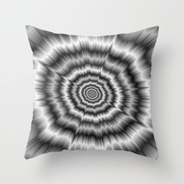 Explosion in Black and White Throw Pillow