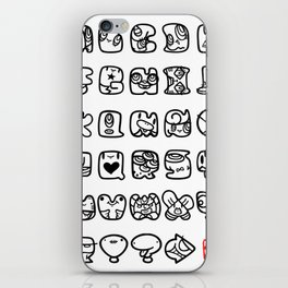 ABC / white & black iPhone Skin