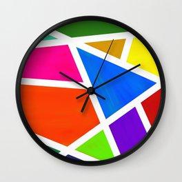Geometric Paint Abstract Wall Clock