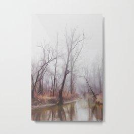 Spencer Creek - Winter Metal Print