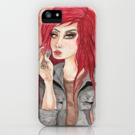 Punk Chick iPhone Case