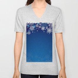 Snowflake background Unisex V-Neck