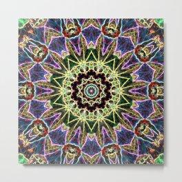 Rave Mandala Metal Print