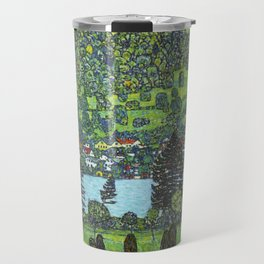 Gustav Klimt - Slope at Unterach Travel Mug