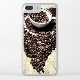 coffee art Clear iPhone Case