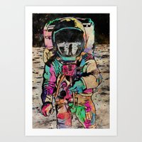 spaceman Art Prints featuring Spaceman by Mr. E