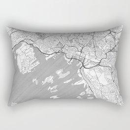 Oslo Map Line Rectangular Pillow