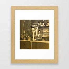 Bistrot la Jeunesse Framed Art Print