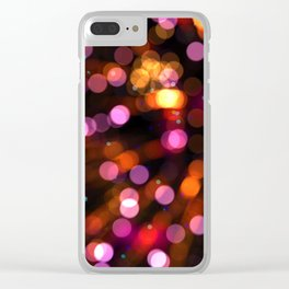 Fireworks Pink (Color) Clear iPhone Case