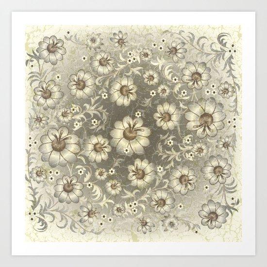 Shabby flowers #12 Art Print