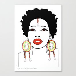 Maasai Earrings Canvas Print
