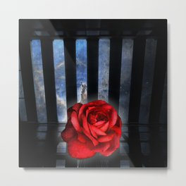 All alone in the starry sky Metal Print