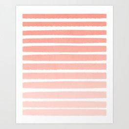 Stripes minimal ombre pattern basic nursery office dorm canvas wall art Art Print