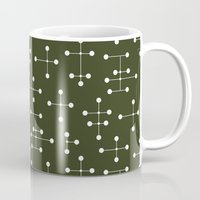 eames Mugs featuring Eames Era Dots 27 by Makanahele
