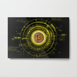 Bitcoin Blockchain Cryptocurrency Metal Print