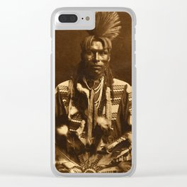 Edward S Curtis A Piegan Dandy Clear iPhone Case
