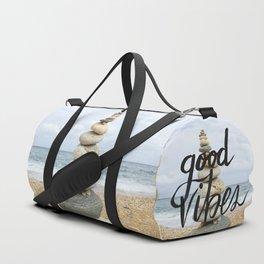 Good Vibes - Rock balancing Duffle Bag