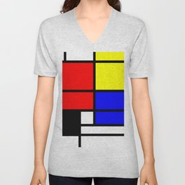 Mondrianista Unisex V-Neck