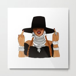 Queen Bey Formation Lemonade Metal Print