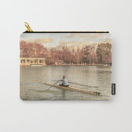 Woman Rowing at Del Retiro Park, Madrid, Spain Carry-All Pouch
