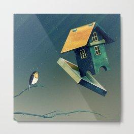 Flying Bird...house Metal Print