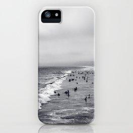Black and White Santa Monica Beach iPhone Case
