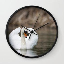 1046327 Mute Swan Wall Clock