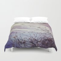 flight Duvet Covers featuring FLIGHT by ALLY COXON