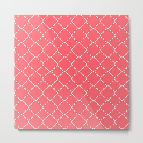 Coral Red Moroccan Metal Print