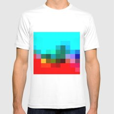 COLORES Mens Fitted Tee White MEDIUM
