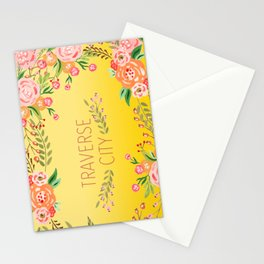 yellow tc flower Stationery Cards