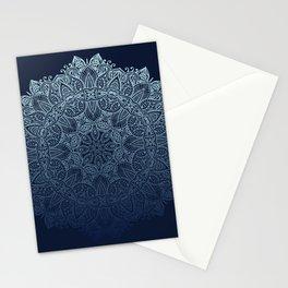 Mandala Deep Blue Bohemian Ombre Stationery Cards