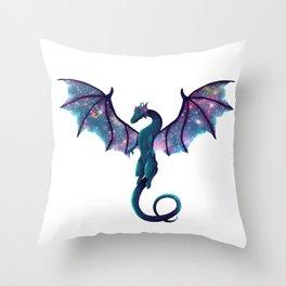 Galaxy Dragon Throw Pillow