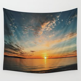 North Shore Sunset Wall Tapestry