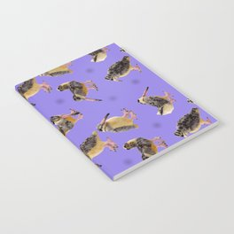 Purple Polka-Dotted Peents Notebook