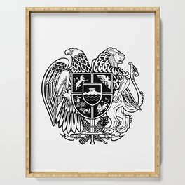 ARMENIAN COAT OF ARMS - Black Serving Tray