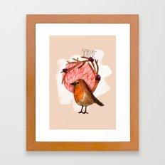 Spring birdy / Nr. 5 Framed Art Print
