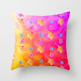 Tropical Sea Turtles Throw Pillow