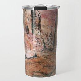 Woman in Red Travel Mug