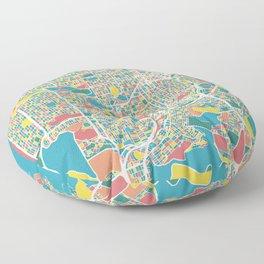 San Francisco Map Art Floor Pillow