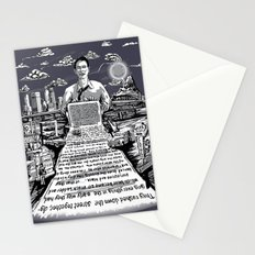 on the road - kerouac  Stationery Cards