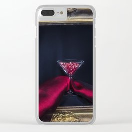 Still life with pomegranate seeds Clear iPhone Case