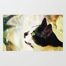 Gypsy Da Fleuky Cat and the Kitty Whisker Wishes Rug