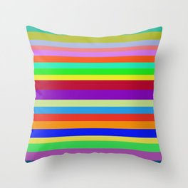 Colors, Colors, Colors Throw Pillow