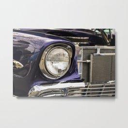 Purple Chrome Metal Print