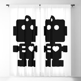 Cute Robot Blackout Curtain