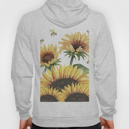 Sunflowers and Honey Bees Hoody